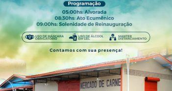 Convite: Reinauguração do Mercado e Feira Livre
